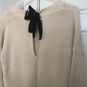 Cream scoop Neck Forever21 Sweater